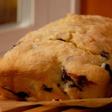 Recipe for gluten free blueberry bread.