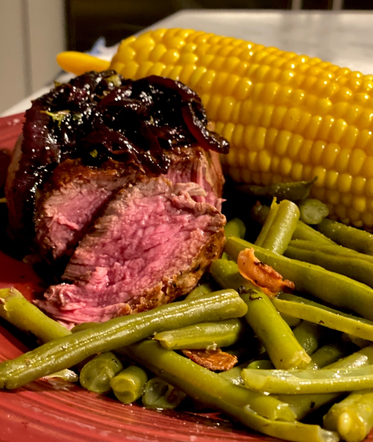 Stove Top Beef Tenderloin with Carmelized Red Onion Glaze